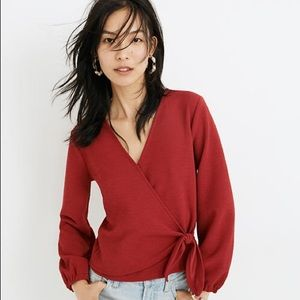 Madewell texture and thread top